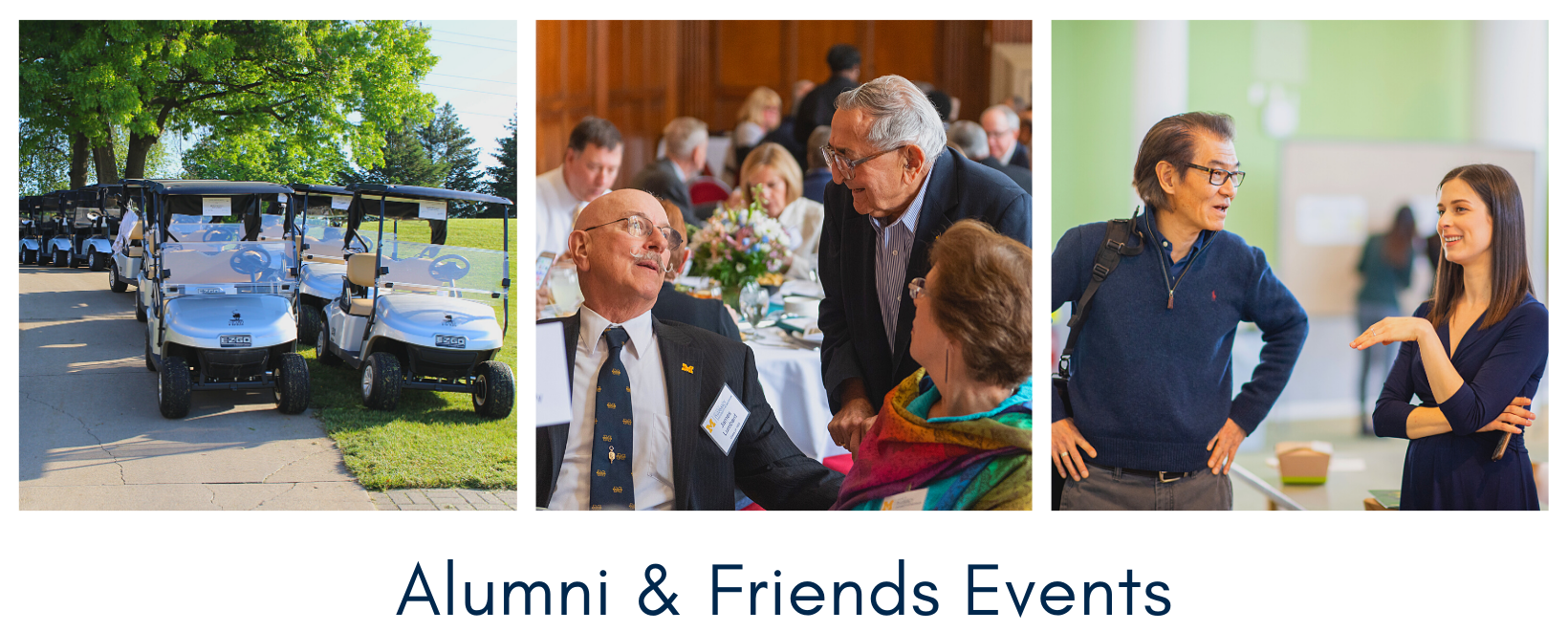Alumni Events Page Header.