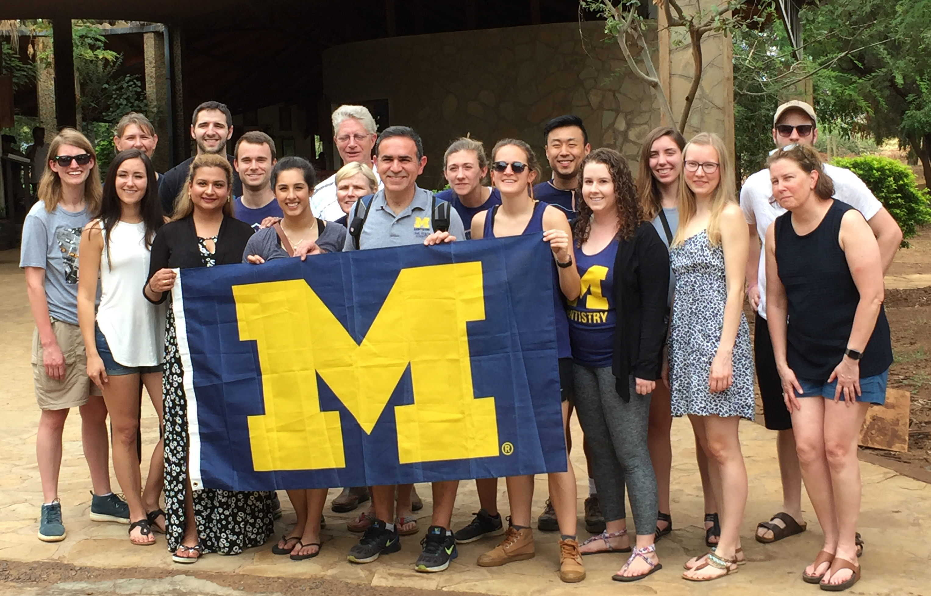 U-M Pharmacy and Dentistry students on rotation in Meru, Kenya.