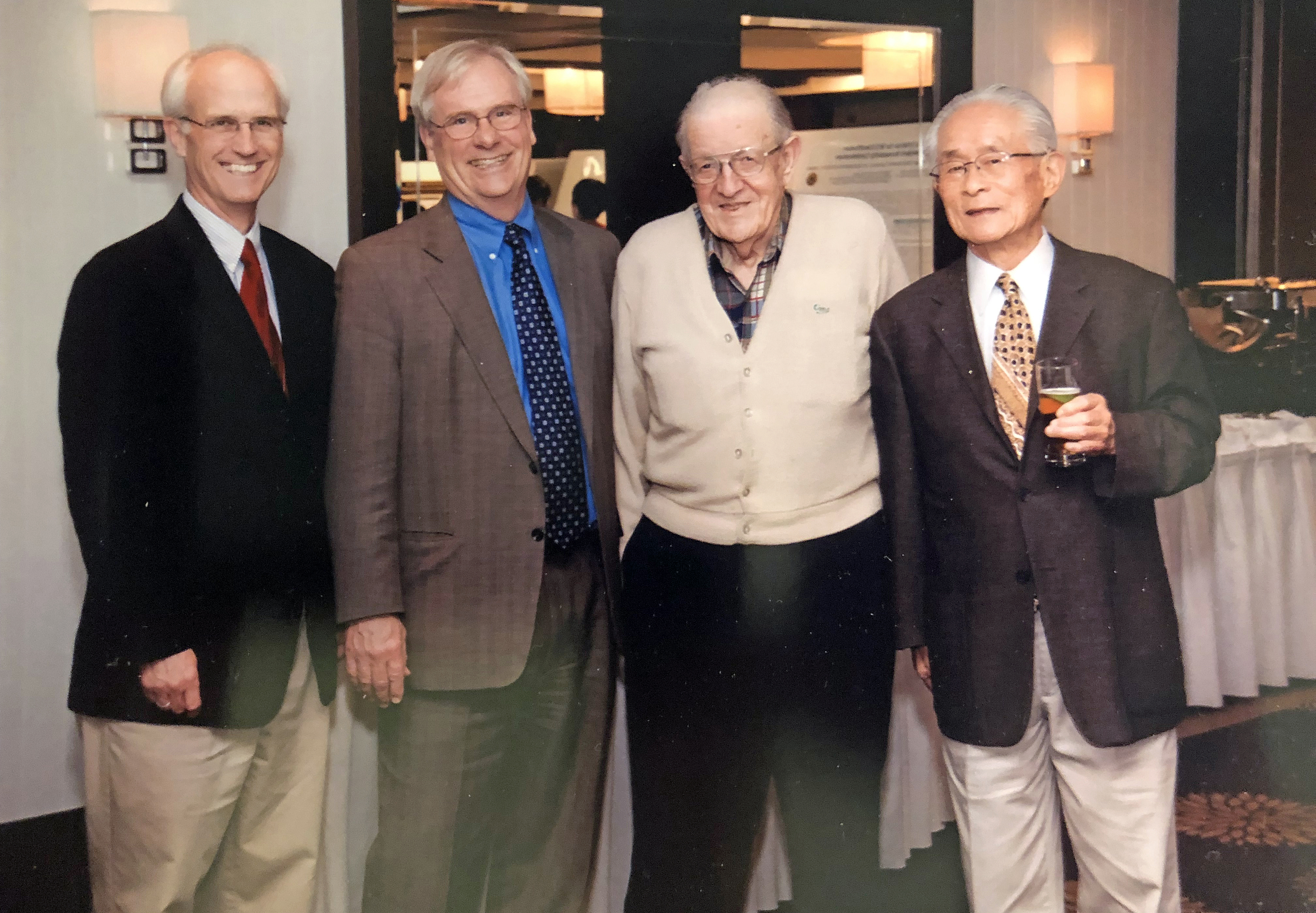 Left to right: Greg Amidon, Gordon Amidon, Everett N. Hiestand, and William Higuchi.