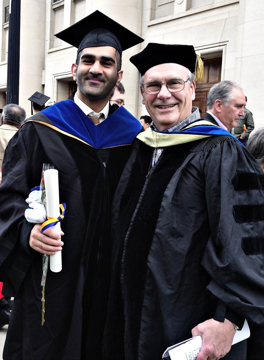 Dr. Amidon with his mentee, Arjang Talattof, after the commencement ceremony.