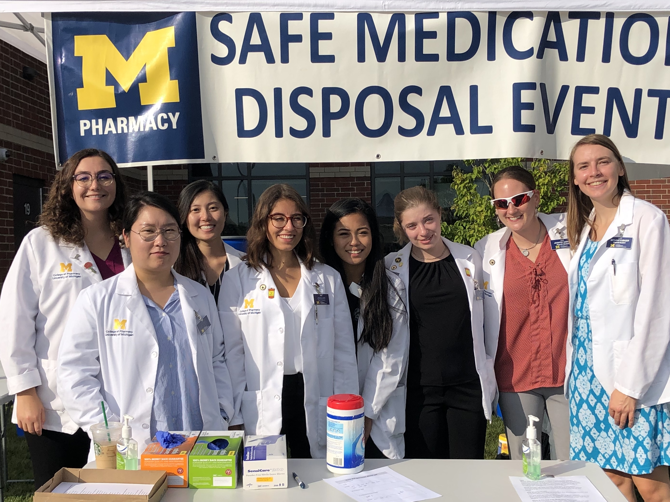 Students collected over 800 lbs of medication and sharps