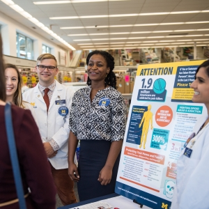 Pharmacy students teach the public about opioid usage and the opioid epidemic