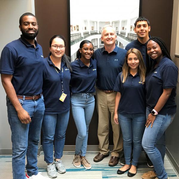 PSP students with Dean James Dalton