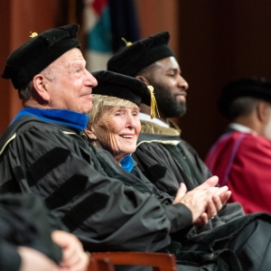 Honored alumni during the commencement ceremony