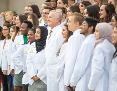 Pharmacy students at White Coat Ceremony