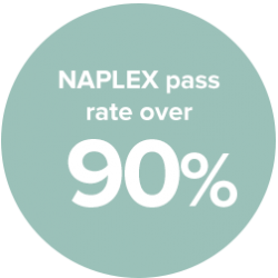 NAPLEX pass rates over 90%
