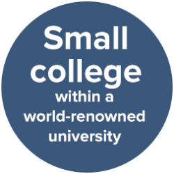 Small college within a world-renowned university